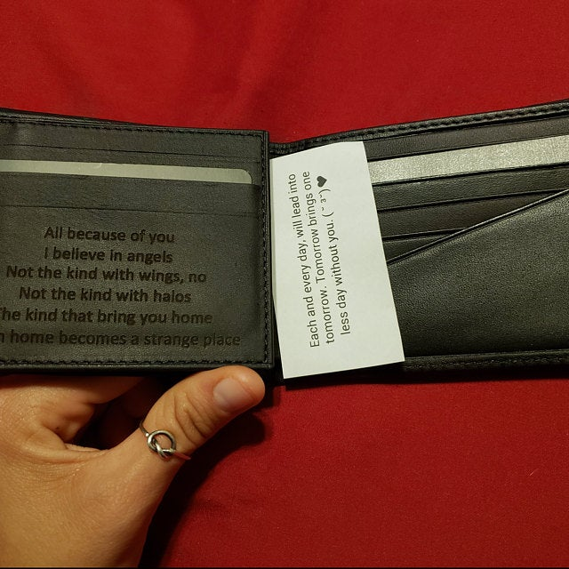 engraved custom leather mens wallet
