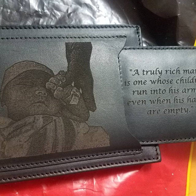 photo engraved fathers day wallet