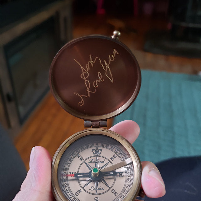 my handwriting is on the compass