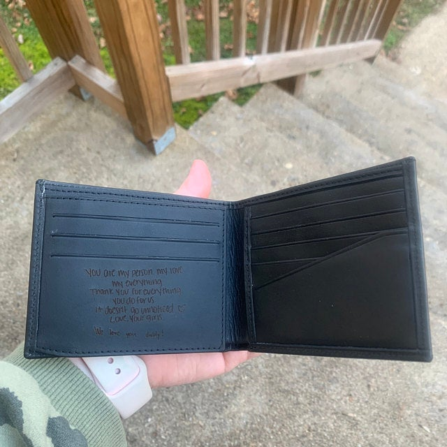 handwriting wallet