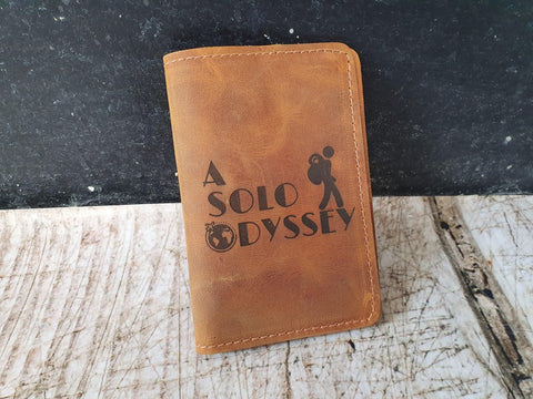 logo engraved passport cover