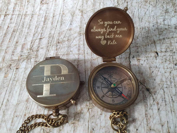 monogrammed compass