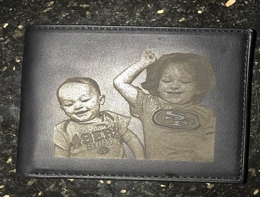 personalized custom mens wallet with photo