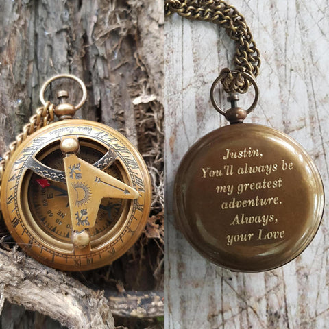 customized personalized engraved compass