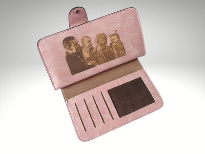custom photo engraved womens wallet
