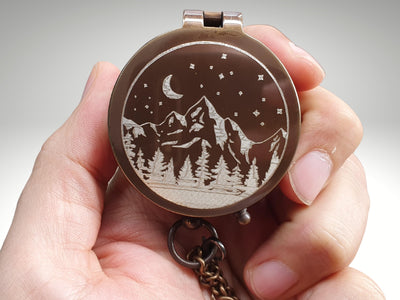 custom engraved functional compass