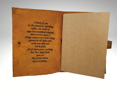 custom engraved genuine leather journal notebook