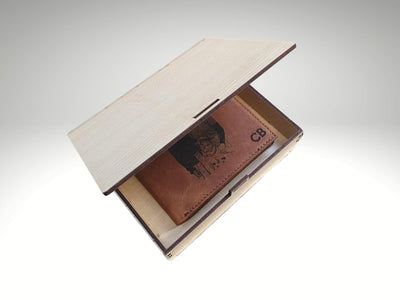 custom engraved wooden box for wallet