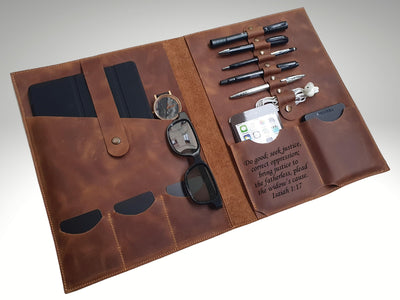 custom leather organizer