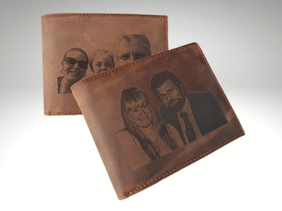 custom mens photo trifold wallet