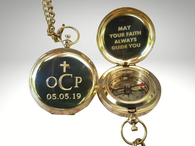 personalized compass gift for baptism