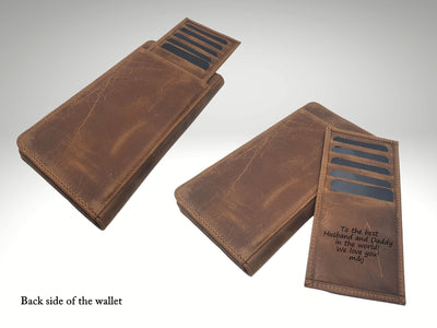 Custom Long Leather Wallet With Phone Pocket