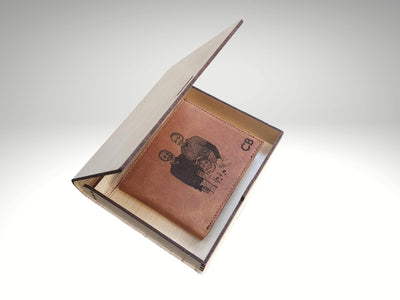custom engraved wooden box for mens wallet
