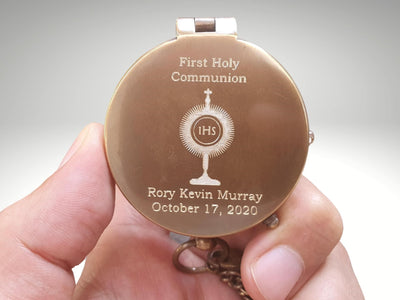 first holly communion compass gift