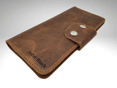 custom leather passport travel wallet