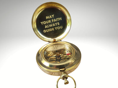may your faith always guide you engraved on golden compass