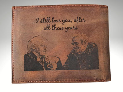 personalized mens trifold wallet
