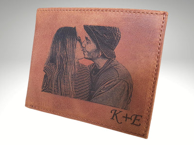 custom mens picture leather wallet