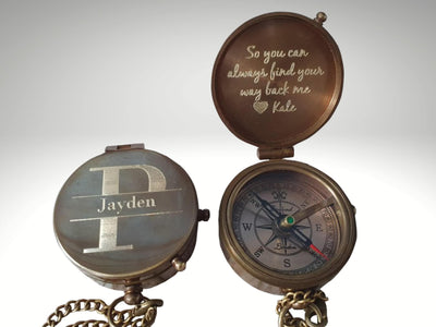 personalized custom engraved compass