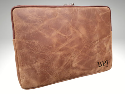 Personalized Leather Laptop Sleeve 13 inch 15 inch