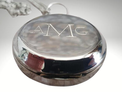 monogrammed silver compass