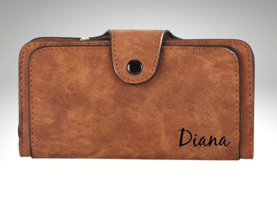 personalized monogrammed leather womens wallet