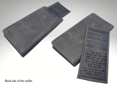 Custom Large Leather Wallet