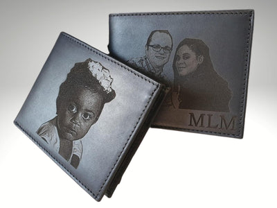 customized mens leather photo wallet