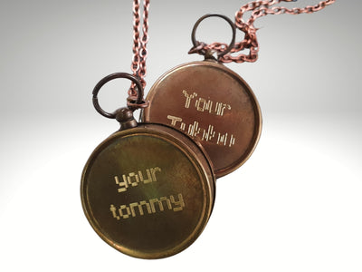 engraved your tommy compass necklace