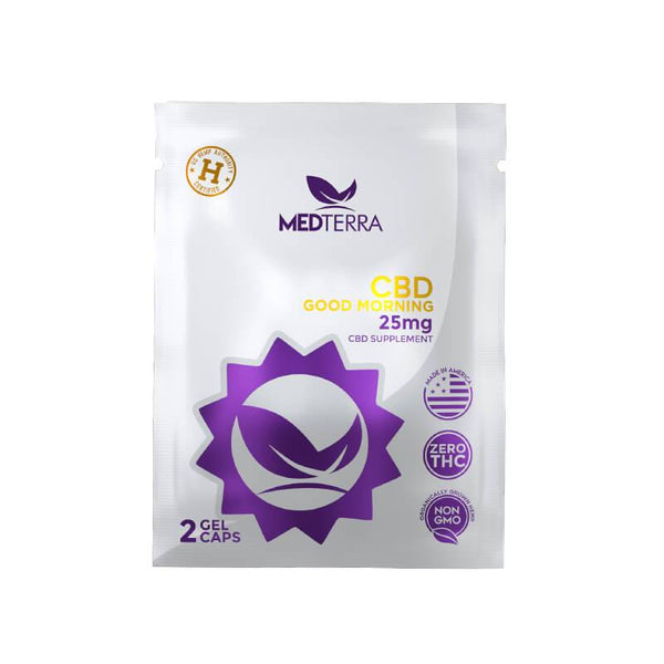 Medterra - CBD Gel Caps - Good Morning Capsules On The Go Packs - 25mg