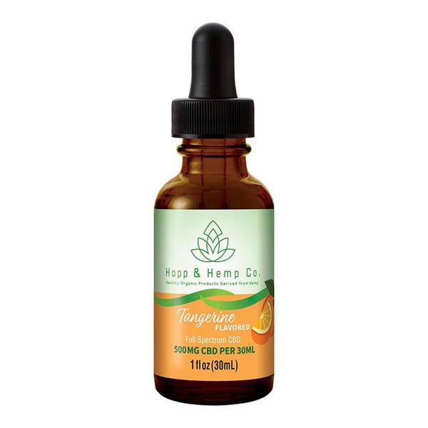 Hopp And Hemp Co - CBD Tincture - Tangerine - 300mg-500mg