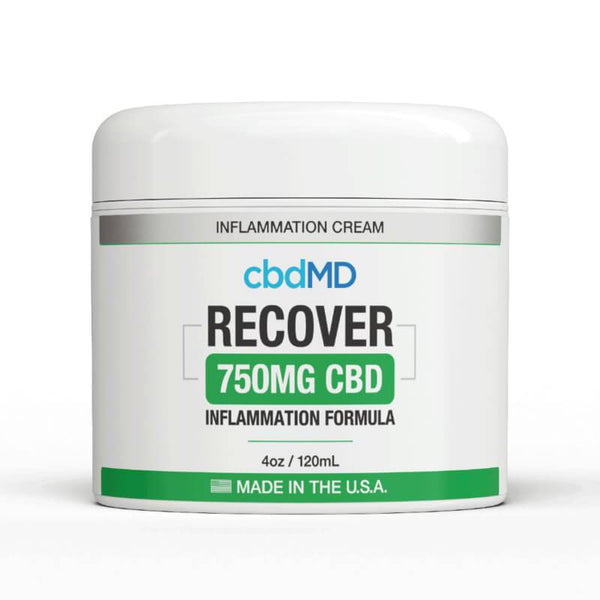 cbdMD - CBD Topical Recover Inflammation Cream - 300mg-1500mg