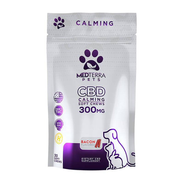 Medterra - CBD Pet Edible - Bacon Calming Soft Chews - 300mg