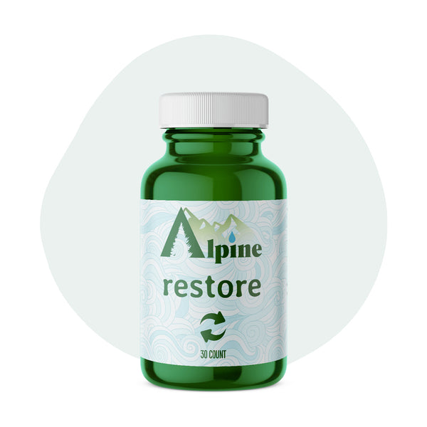 Alpine Hemp CBD Capsule Restore 20mg 30 Count - ErthBay