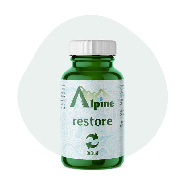 Alpine Hemp CBD Capsule Restore 20mg 60 Count - ErthBay