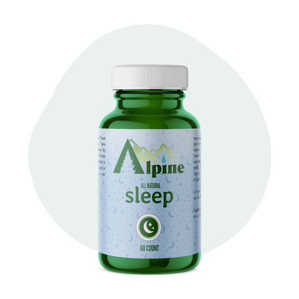 Alpine Hemp CBD Capsule Sleep 20mg 60 Count - ErthBay