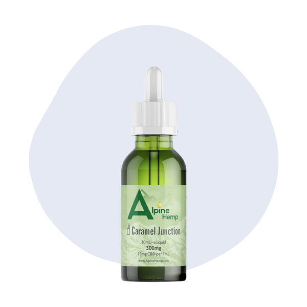 Alpine Hemp CBD Vape Caramel Junction 300mg - ErthBay