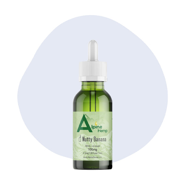 Alpine Hemp CBD Vape Nutty Banana 100mg - ErthBay