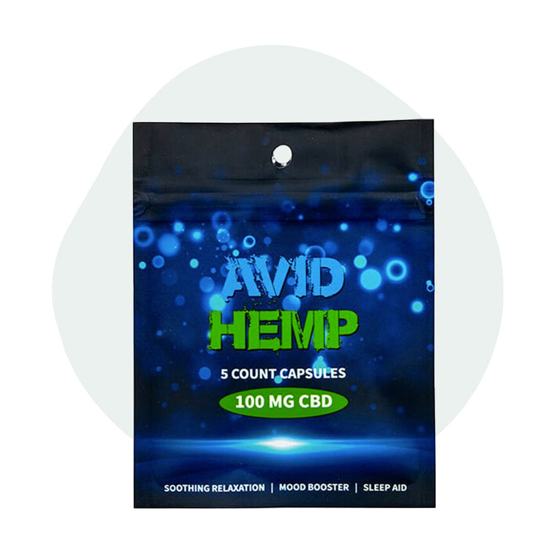 Avid Hemp CBD Caps Full Spectrum 100mg - ErthBay Depot