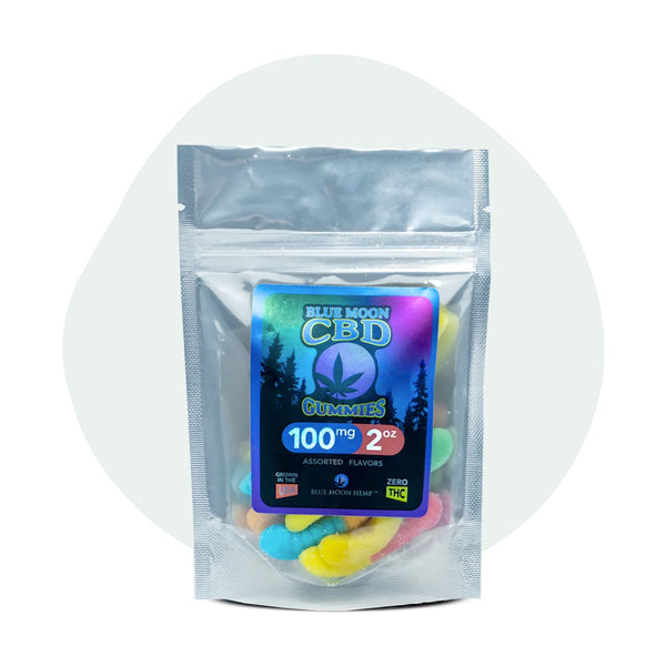 Blue Moon Hemp CBD Edible Gummies 2oz-100mg - ErthBay