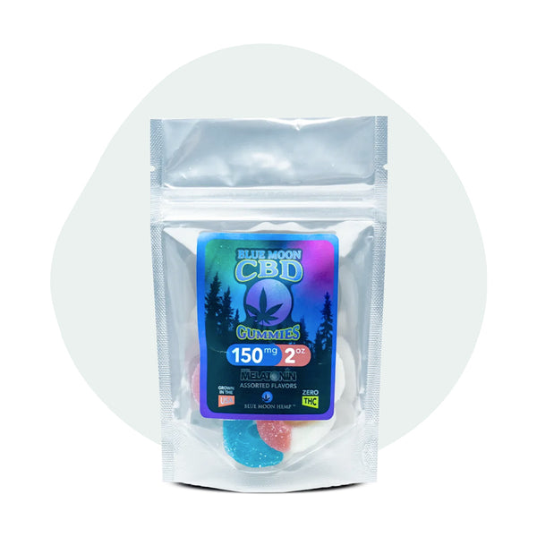Blue Moon Hemp CBD Edible Gummies with Melatonin 2oz-150mg - ErthBay