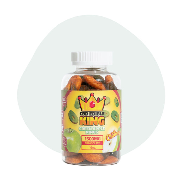 CBD Edible King Green Apple Rings Chamoy - ErthBay