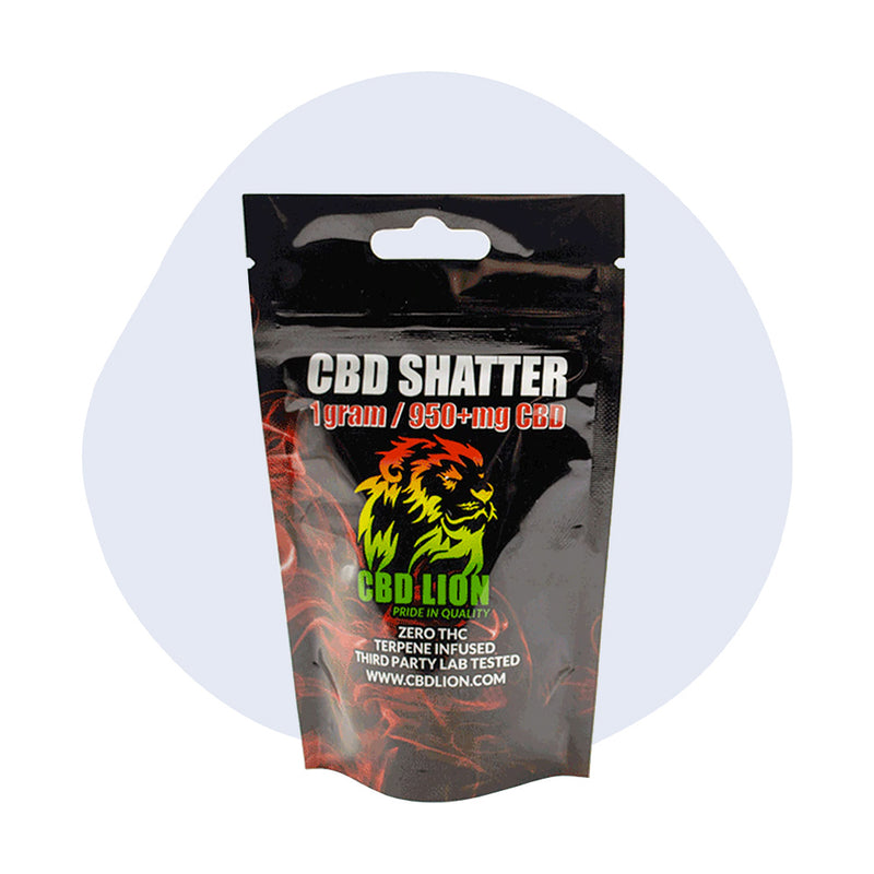 CBD Lion CBD Concentrate Jack Herer Shatter 1 Gram - ErthBay
