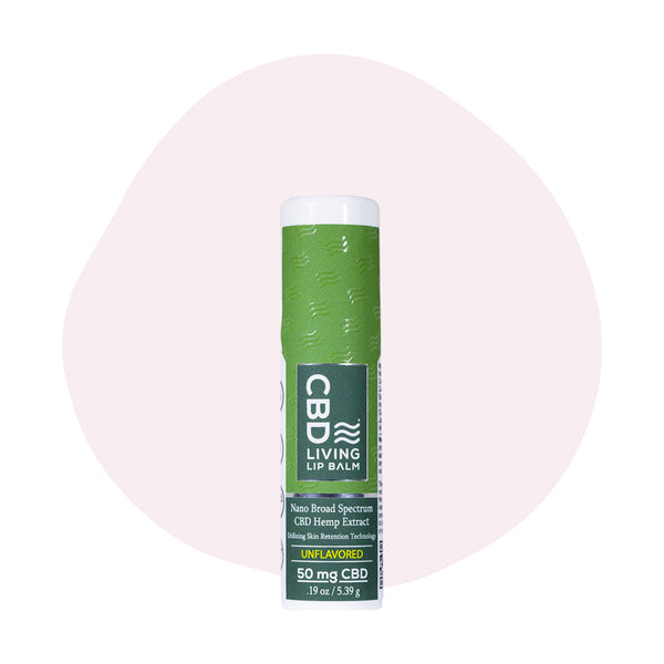 CBD Living CBD Topical Travel Sized Lip Balm Unflavored 50mg - ErthBay