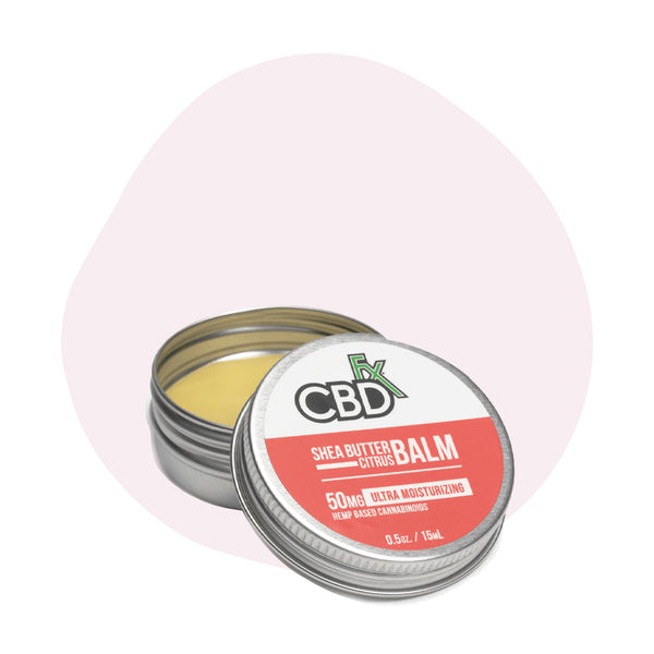 CBDfx CBD Topical Shea Butter Citrus Mini Balm 50mg - ErthBay