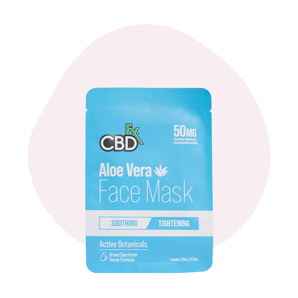 CBDfx CBD Face Mask Aloe Vera 50mg - ErthBay