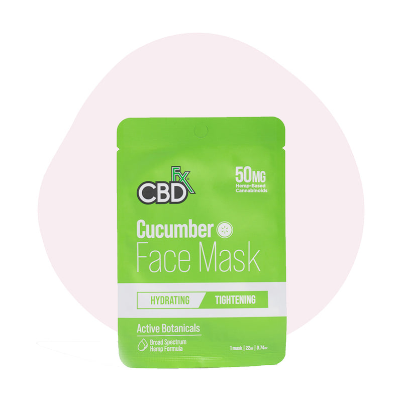 CBDfx Broad Spectrum CBD Cucumber Face Mask - ErthBay