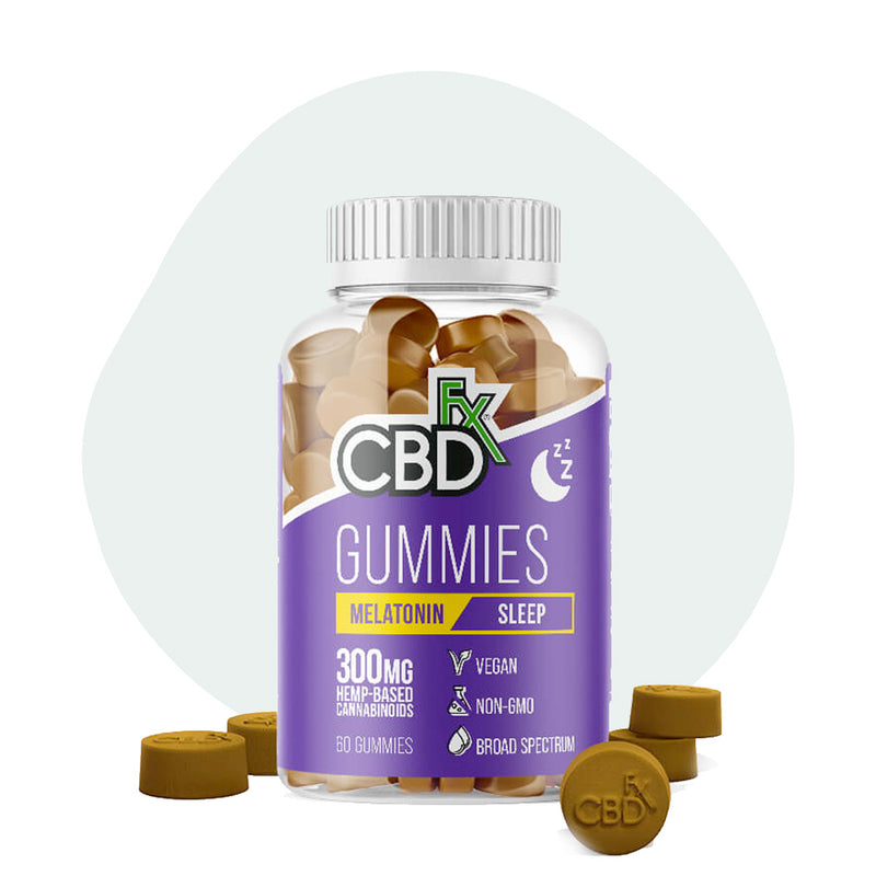 CBDfx CBD Edible Broad Spectrum Melatonin Gummies 300mg - ErthBay