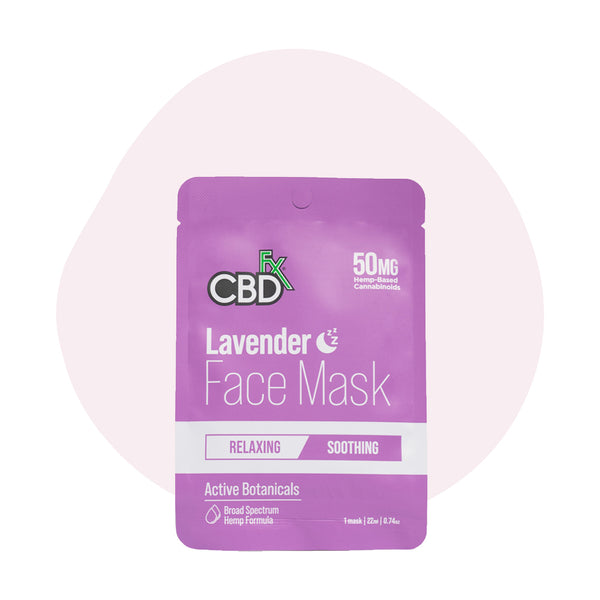 CBDfx Broad Spectrum CBD Lavender Face Mask - ErthBay