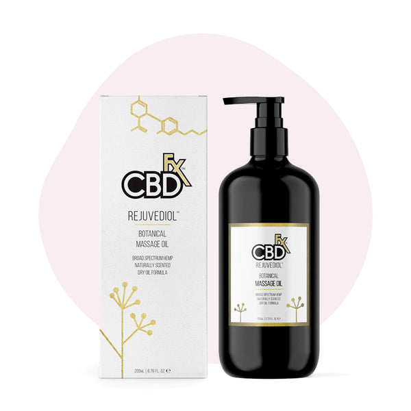 CBDfx Broad Spectrum CBD Massage Oil Rejuvediol - ErthBay